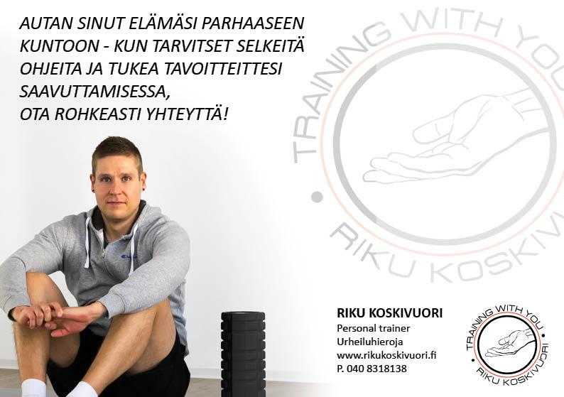 Personal Trainer Riku Koskivuori on uusin yhteistyökumppanimme