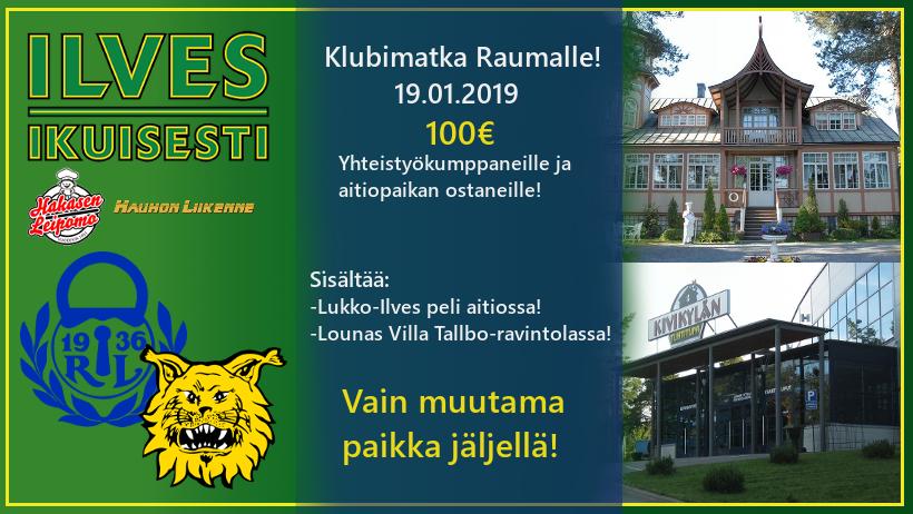 Clubi-matkalle Raumalle 19.1.2019
