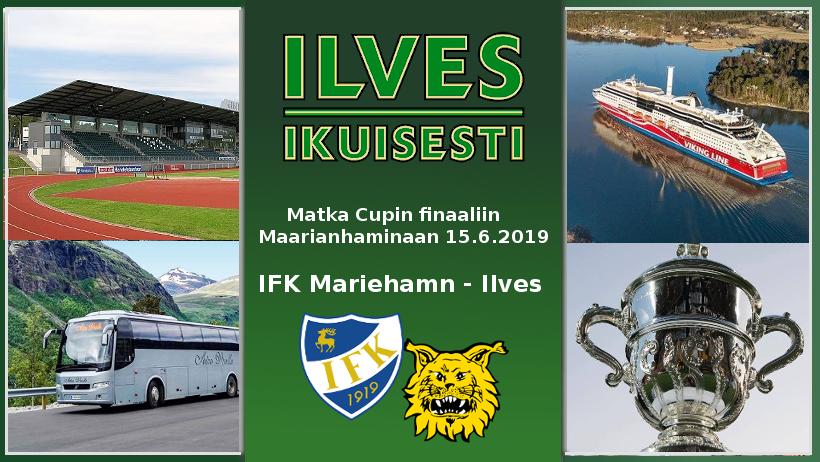 Ilves Ikuisesti ry järjestää matkan Suomen Cupin loppuotteluun saarelle 15.6.19