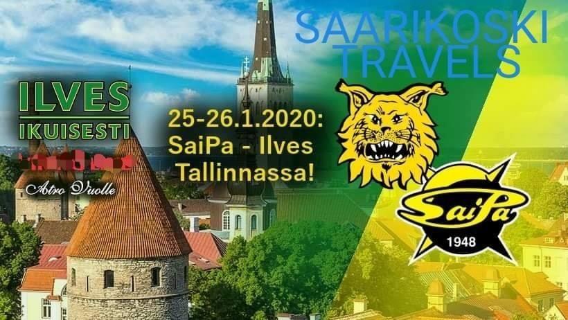 Ilves Ikuisesti ry 25.-26.1.2020 SaiPa – Ilves vieraspelissä Tallinnassa